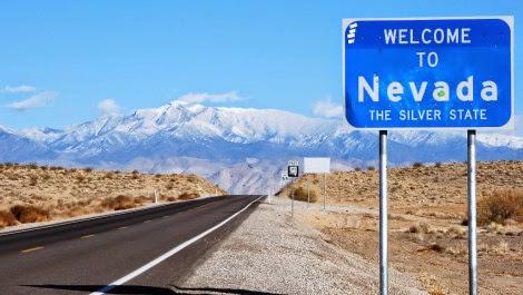Distância entre as cidades da Califórnia e Las Vegas em Nevada