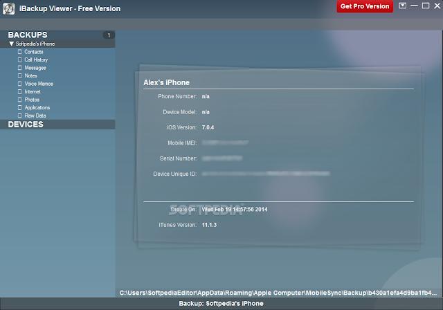 تحميل برنامج النسخ الاحتياطي للايفون iBackup Viewer