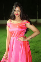Actress Pujita Ponnada in beautiful red dress at Darshakudu music launch ~ Celebrities Galleries 037.JPG