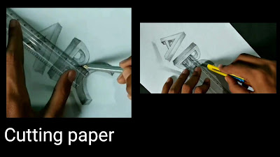 How to draw 3d words ABC, step by step tutorial, Art of Rohit