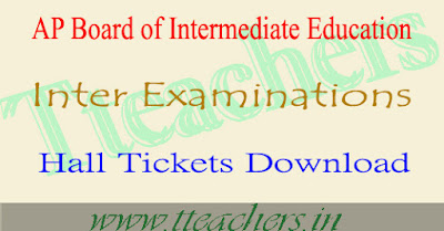AP intermediate hall tickets 2017 download ap ipe 1st 2nd year admit card