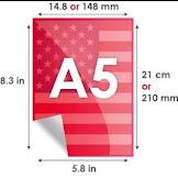 Berapa Ukuran Kertas A5 cm