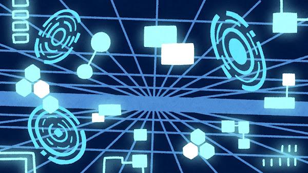 電脳空間のイラスト(背景素材)
