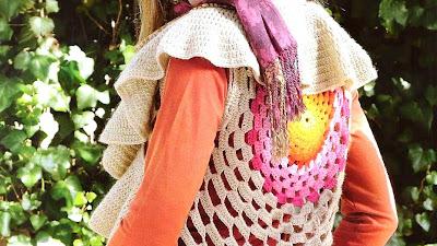 Chaleco circular mandala de colores