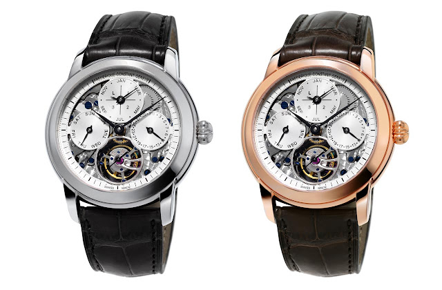 Frederique Constant Perpetual Calendar Tourbillon Manufacture with openworked dial