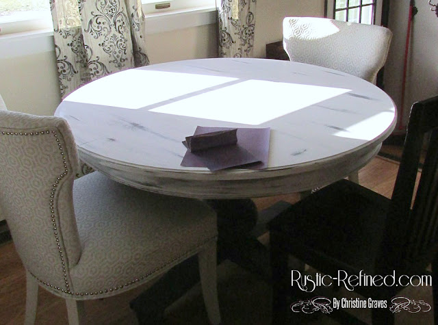 distressing a chalk painted table