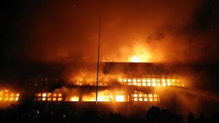 Markas Polisi Militer Kodam XII/Tanjungpura Terbakar