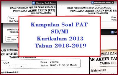Soal PAT Kelas 5 Semester 2 Kurikulum 2013 dan Kunci Jawabannya Tahun 2018/2019