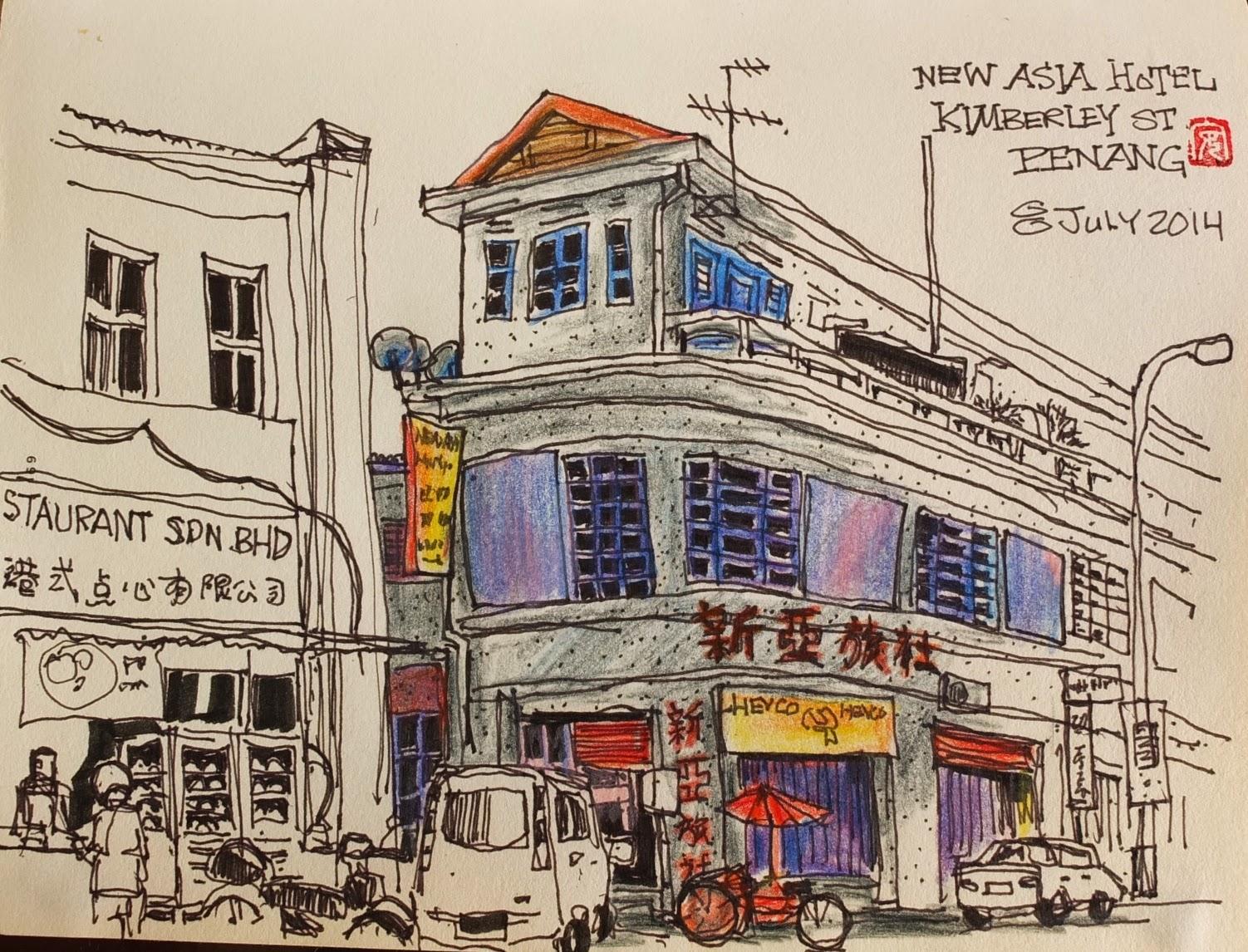 Colour pencils sketches