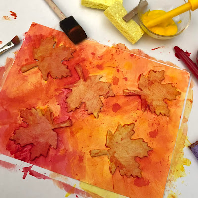 Fun fall art project for toddlers, preschool, Kindergarten, and elementary students.