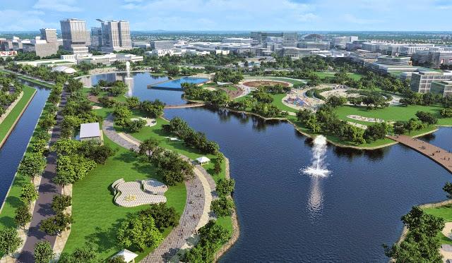Khu đô thị thành phố giao lưu sở hữu hồ điều hòa rộng lớn nhất quận Từ Liêm