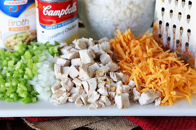 Creamy Chicken Rice Casserole Ingredients Image