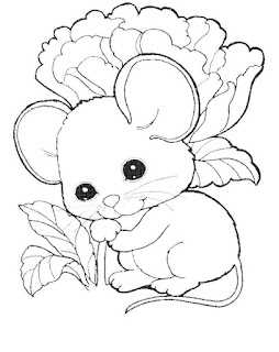 Cute Fat Mouse Eat Vegetable Coloring Pages