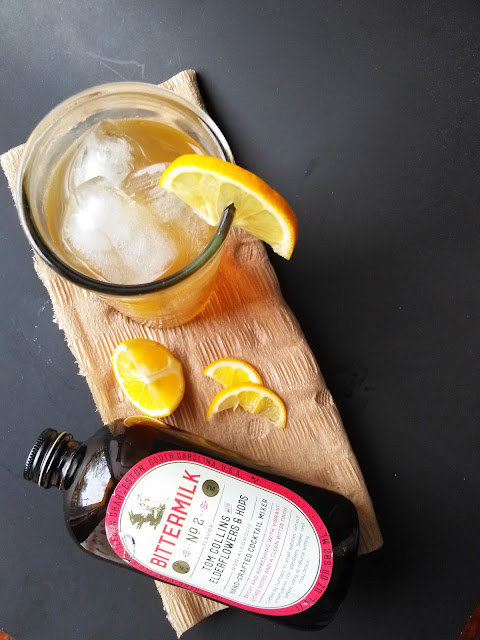 Tom Collins with Elderflowers and Centennial Hops
