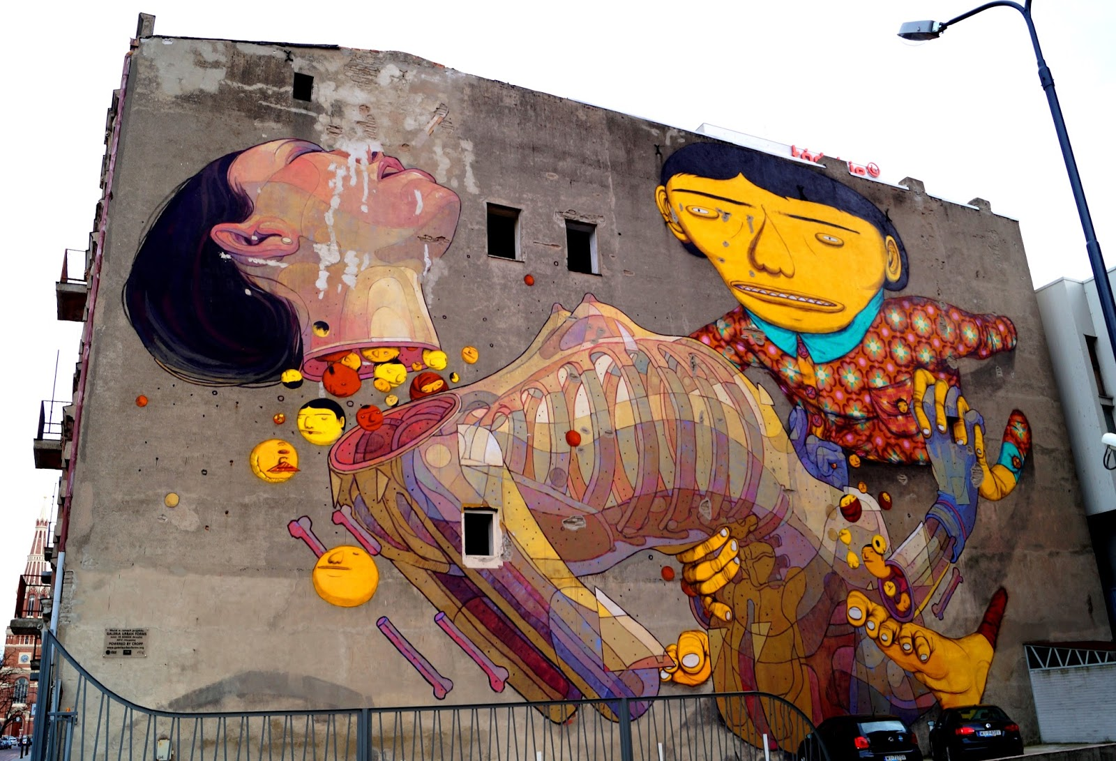 street art mural Lodz