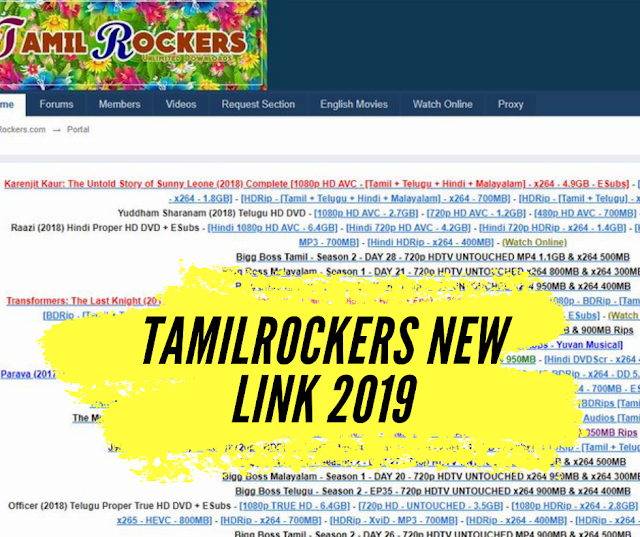 Updated] Tamilrockers New Link 2019 #tamilrockersnewlink
