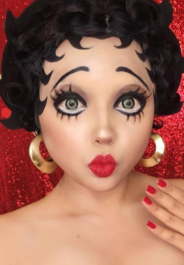 Maquillaje Halloween Betty Boop