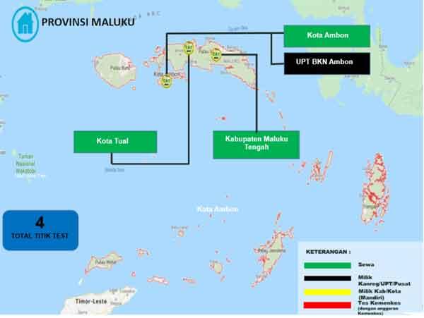 Lokasi Tes Cat BKN Propinsi Maluku