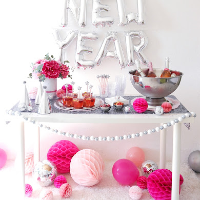 A Pink and Silver New Year's Eve Party