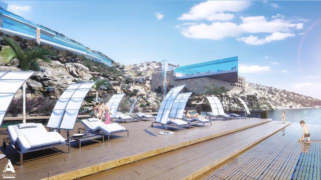 Визуализация концепции отеля на Крите | Блог Archirost.com