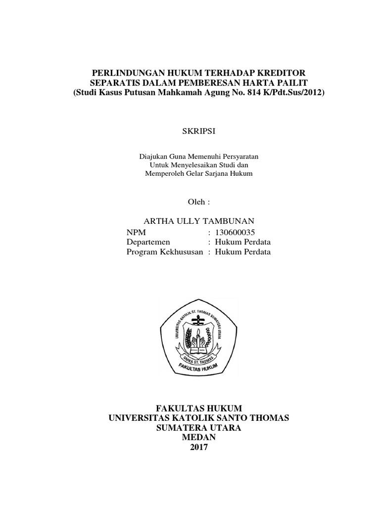 Skripsi Hukum Perdata Tentang Tanah Ide Judul Skripsi Universitas