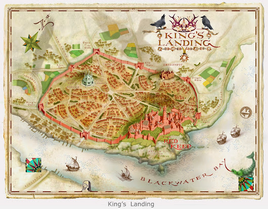 Map Illustrations for Game of Thrones by Michael Gellatly
