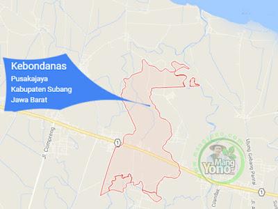 PETA : Desa Kebondanas, Kecamatan Pusakajaya