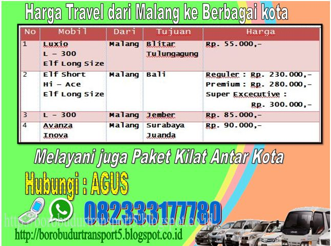 Borobudur Travel Malang Tulungagung Jember Surabaya