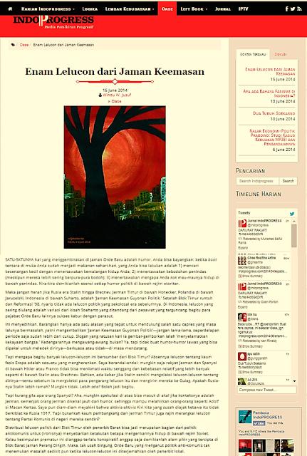 Lukisan Merah Bertahta di Blog IndoProgress