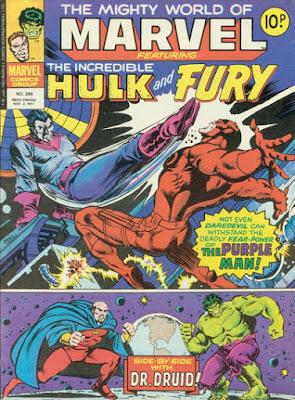 Mighty World of Marvel #266, Daredevil vs the Purple Man, Hulk vs Dr Druid