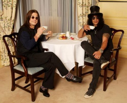 Ozzy and Slash... Why wouldn't they want to have tea together?