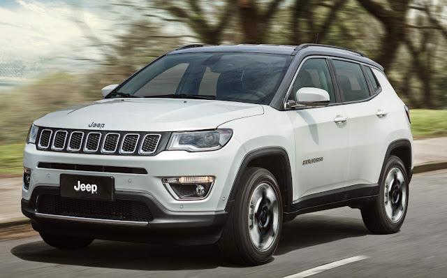 Jeep Compass desacelera vendas do Renegade