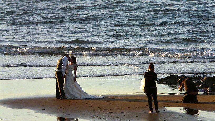 Fotos de boda en la playa de Sopelana