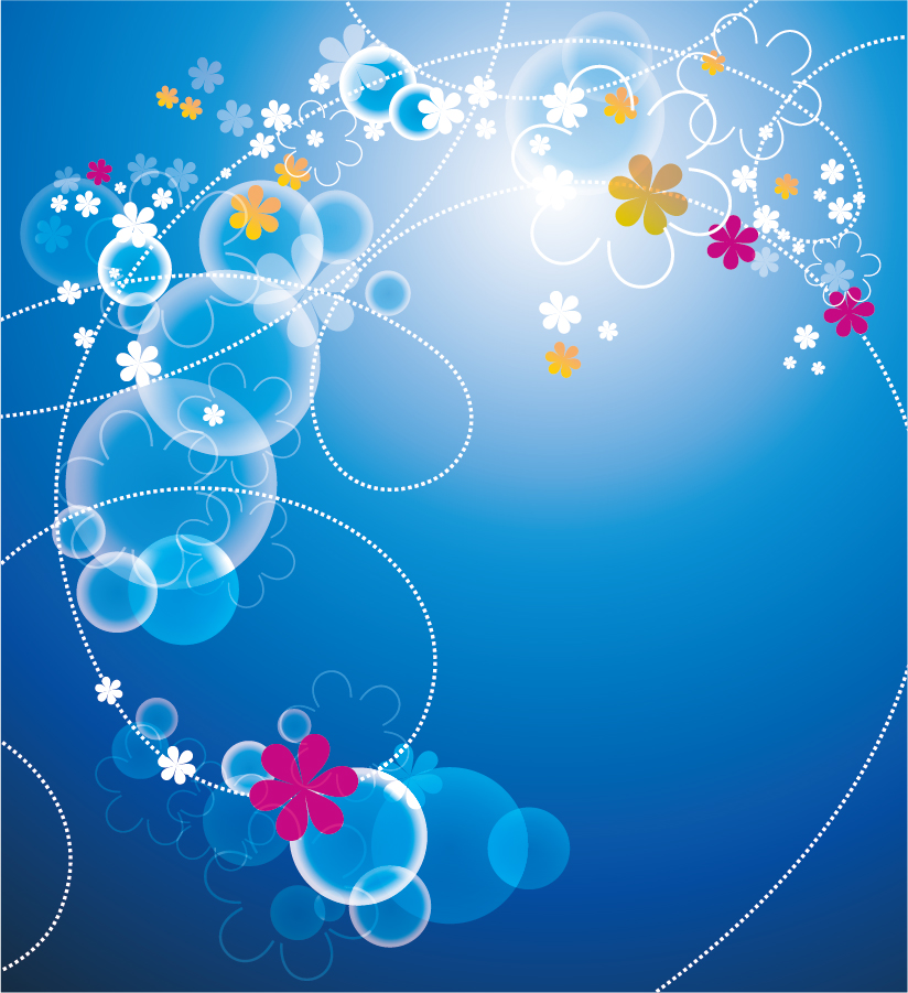 blue flower backgrounds vector - photo #27