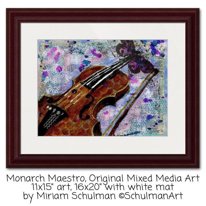 vioin art http://www.miriamschulmanstudio.com/musical-art/monarch-maestro.html