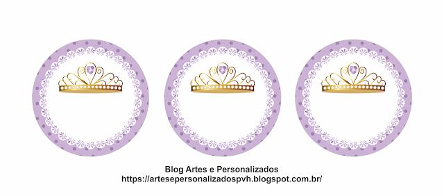 Princesa en Lila: Toppers para Tartas, Tortas, Pasteles, Bizcochos o Cakes para Imprimir Gratis.