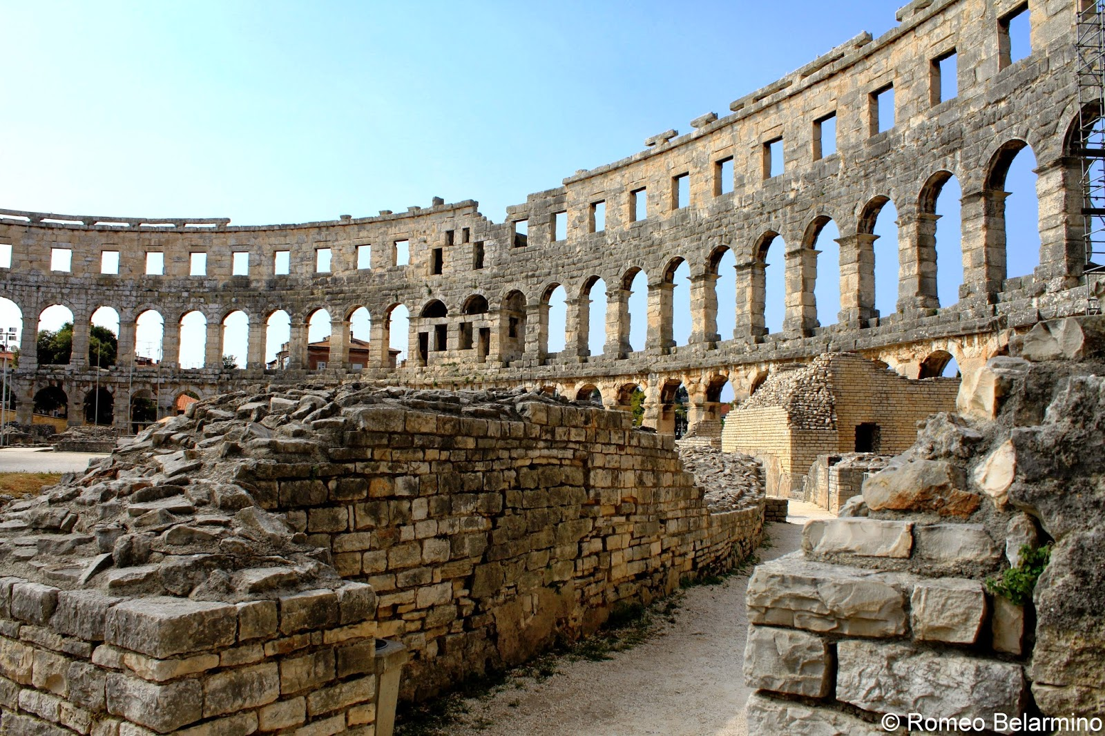 Interior of the Pula Arena Croatia