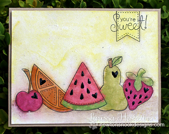 You're sweet Fruit card by Larissa Heskett for Newton's Nook Designs | Sweet Summer Stamp Set
