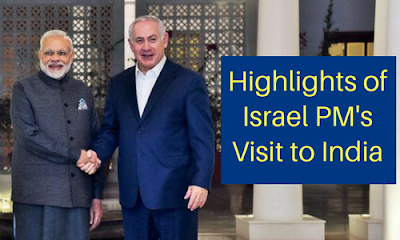 Highlights of Israel PM's Visit to India