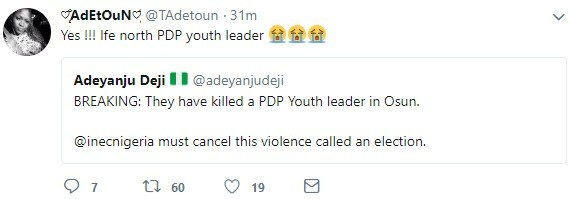 #Osunrerun: Tension as PDP youth leader reportedly killed as another is almost beaten to death
