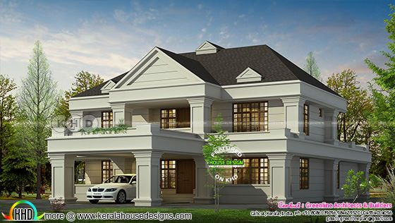 4079 square feet Colonial style house in Kerala