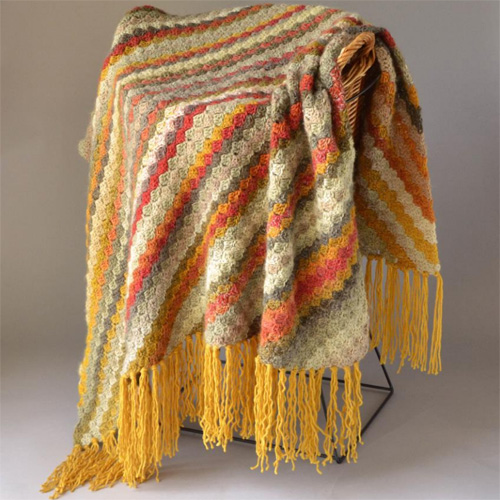 Beautiful Colors C2C Throw - Free Pattern