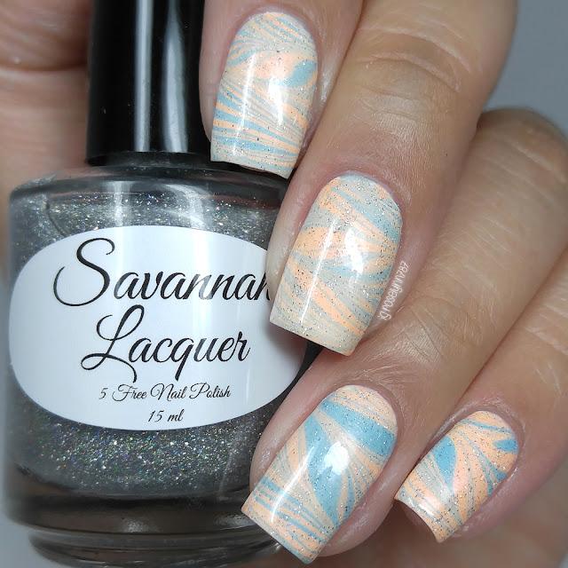 Savannah Lacquer - Salt Water Taffy Watermarbles
