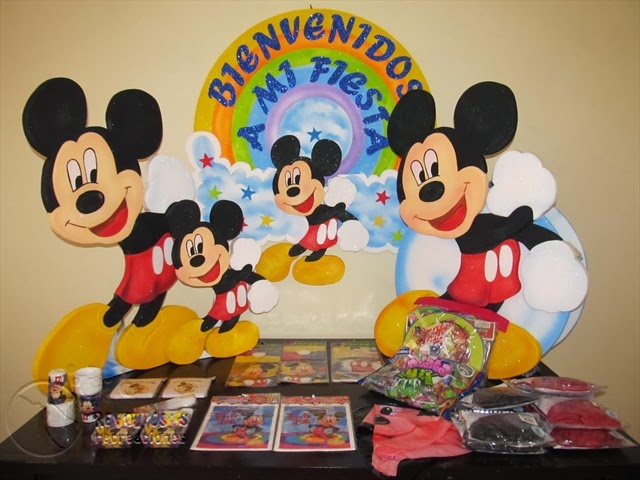 DECORACION FIESTA INFANTIL MICKEY MOUSE 1 RECREACIONISTAS MEDELLIN
