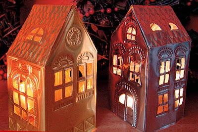 The W S Idea Tin Foil Christmas Village
