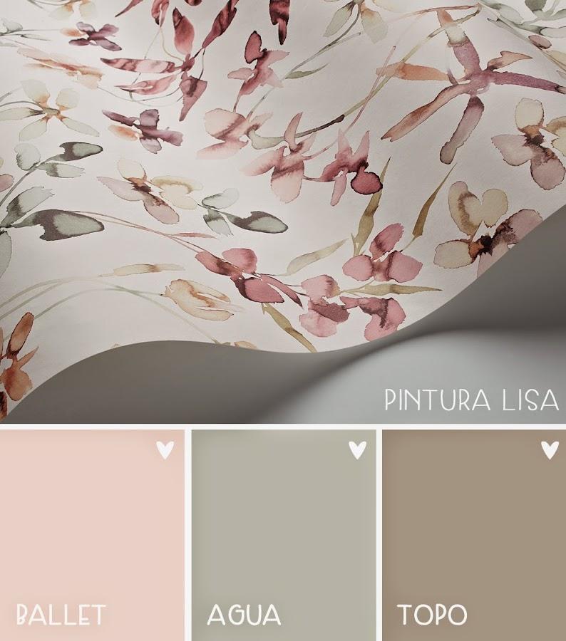 decoración papel pintado y pintura para dormitorio