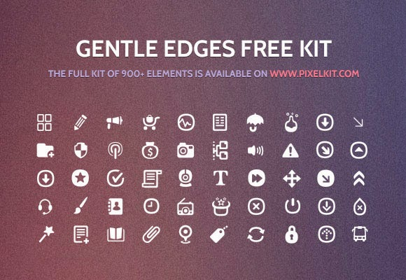 Gentle edges 50 icon set