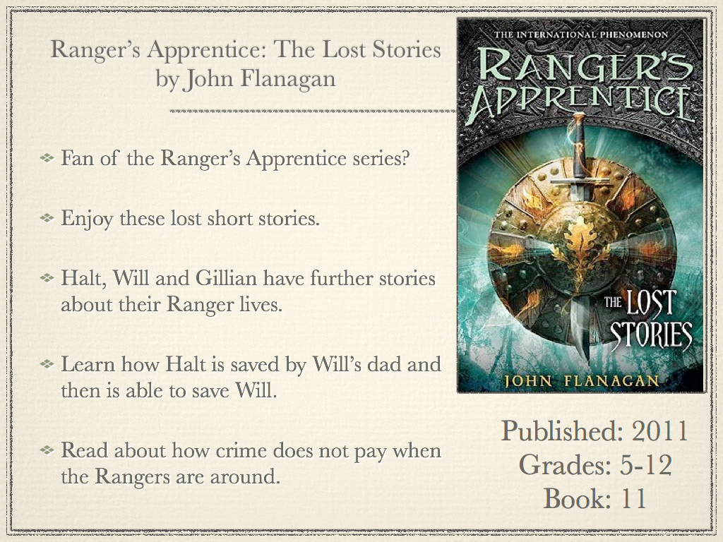 young adult reading machine: ranger's apprentice: the lost stories