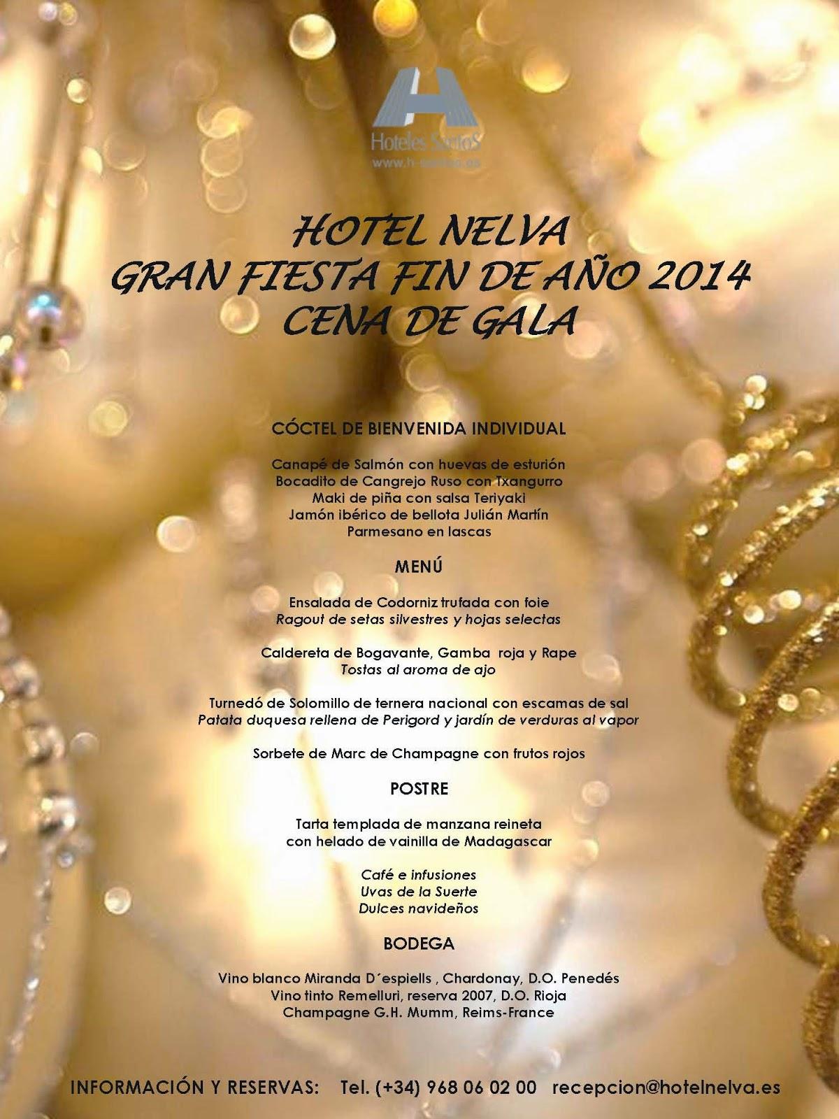 Blog del hotel santos nelva gran cena de gala - Cena para noche vieja ...