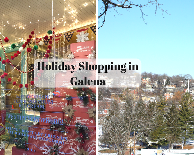 Holiday Shopping and Small Business Exploring in Galena, Illinois